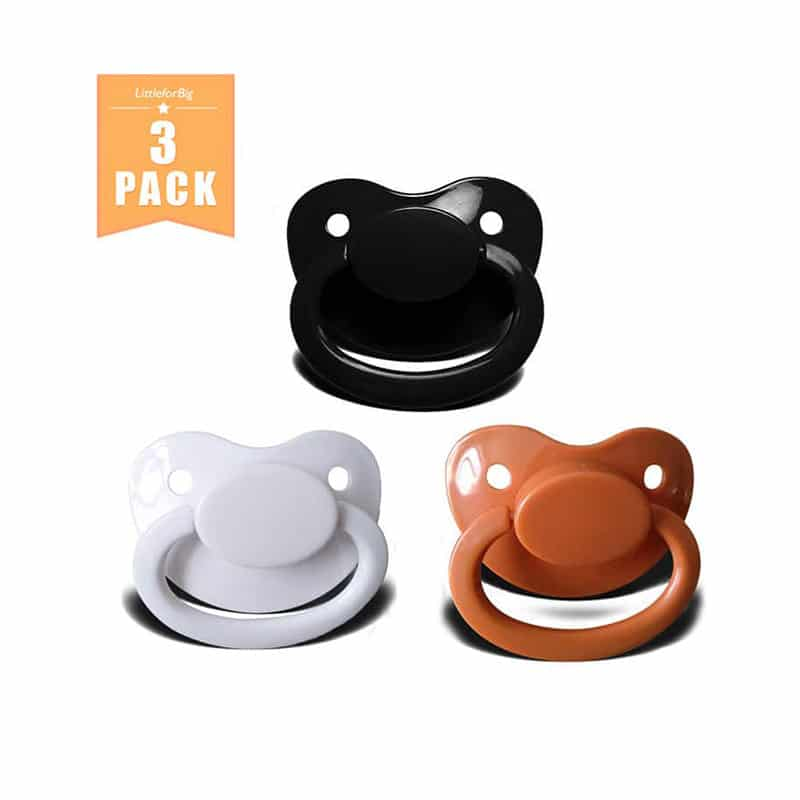 #12 Baby Bear Pacis Black Adult Pacifier