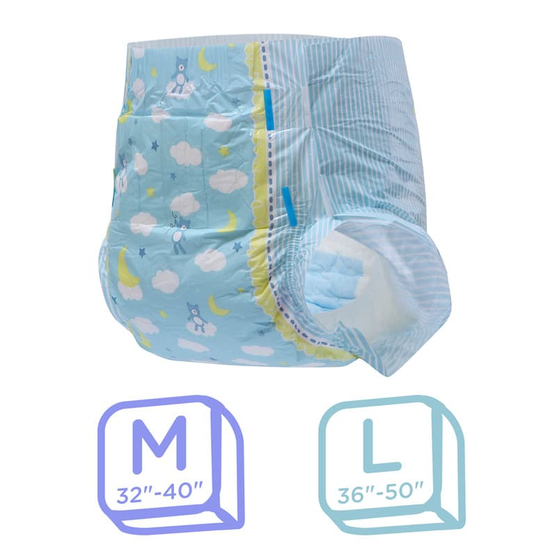 Little Dreamers Adult Diapers 2 Pieces Sample Pack